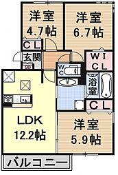 (仮称)D-room大津市大萱六丁目[101号室号室]の間取り