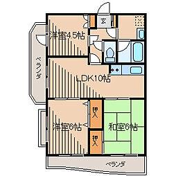神奈川県川崎市麻生区上麻生4丁目の賃貸マンションの間取り