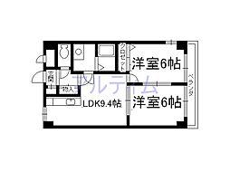 クレアール弐番館[4階]の間取り