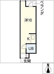 ダイアパレス伏見509号室[5階]の間取り