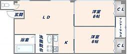 亜高ビル[3階]の間取り
