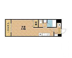 スタシオン新城[1階]の間取り