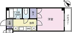 ハイム京浜[0201号室]の間取り
