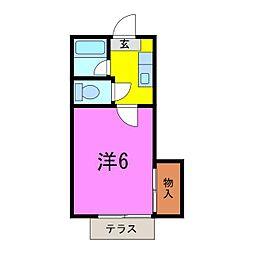 葵5号館[105号室]の間取り