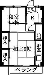 クラウンズマンション天川大島[302号室]の間取り