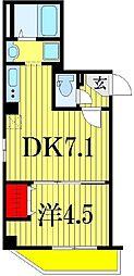 金太郎ヒルズ201[4階]の間取り