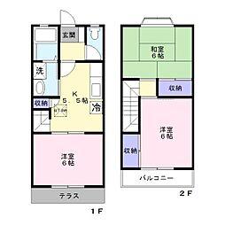 [テラスハウス] 神奈川県藤沢市円行 の賃貸【/】の間取り