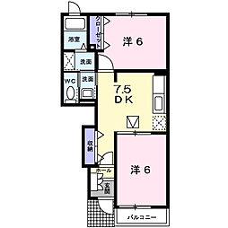 Palazzo・K[A102号室]の間取り