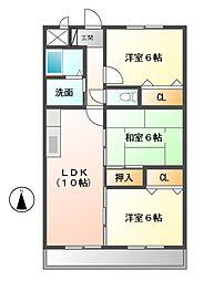 ルネス中川[1階]の間取り