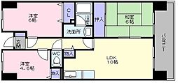 大阪府和泉市阪本町の賃貸マンションの間取り