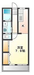 レジデンスKFC[4階]の間取り