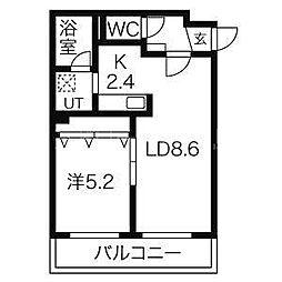 北海道札幌市豊平区平岸三条2丁目の賃貸マンションの間取り