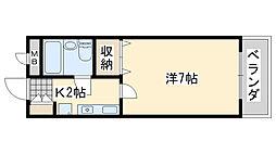 コーポ福田[303号室]の間取り