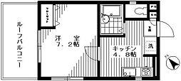 東京都世田谷区野沢2丁目の賃貸マンションの間取り