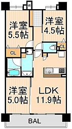 グラーナ上野[502号室]の間取り