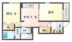 サニーコート植村2[1階]の間取り