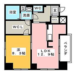 名駅アイサンメゾン[6階]の間取り