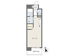 熊本市電B系統 杉塘駅 徒歩3分の賃貸マンション 8階ワンルームの間取り