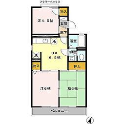 埼玉県吉川市道庭1丁目の賃貸アパートの間取り