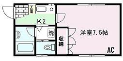 東京都大田区大森本町2丁目の賃貸アパートの間取り
