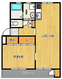 津田沼ハイムA[1階]の間取り