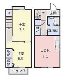 [テラスハウス] 三重県松阪市外五曲町 の賃貸【/】の間取り