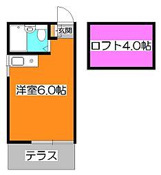 東京都西東京市ひばりが丘北1丁目の賃貸アパートの間取り
