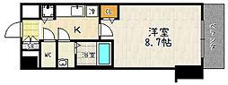 プレサンス京都鴨川[207号室]の間取り