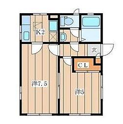 KHハイツ[1階]の間取り