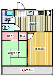 コーポサワ205[2階]の間取り