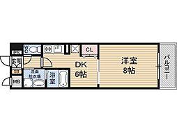 プレサンス新大阪ステーションフロント[608号室]の間取り