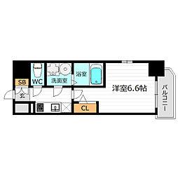 Osaka Metro長堀鶴見緑地線 京橋駅 徒歩2分の賃貸マンション 12階1Kの間取り