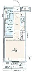 JR山手線 巣鴨駅 徒歩7分の賃貸マンション 2階1Kの間取り