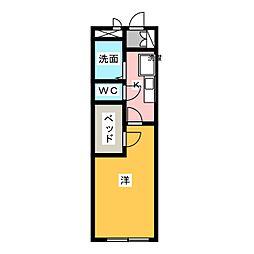 レオパレスオリオン[2階]の間取り