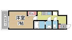 レシオス神戸元町 10階1Kの間取り