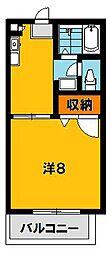 コーポX[2階]の間取り