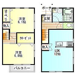 [テラスハウス] 神奈川県南足柄市和田河原 の賃貸【/】の間取り