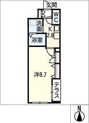 Maison M 1階1Kの間取り