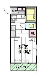 ルジェドメゾン[1階]の間取り