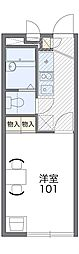 京阪本線 西三荘駅 徒歩7分の賃貸アパート 1階1Kの間取り