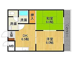 山本不動産ビル[6階]の間取り