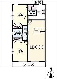 仮)中川区中須町ヘーベルメゾン[1階]の間取り