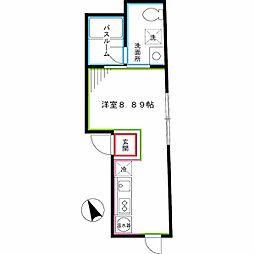 西武新宿線 新井薬師前駅 徒歩5分の賃貸マンション 5階ワンルームの間取り