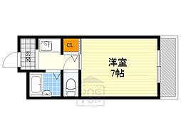 北沢マンション 1階1Kの間取り