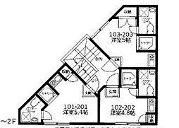 コンフォート柳沢[203号室]の間取り