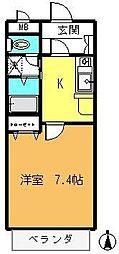 メゾン・ド・アブリール[1階]の間取り