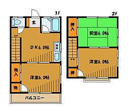 [テラスハウス] 東京都国分寺市内藤 の賃貸【東京都 / 国分寺市】の間取り