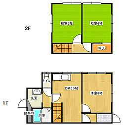 [一戸建] 愛媛県新居浜市沢津町1丁目 の賃貸【/】の間取り