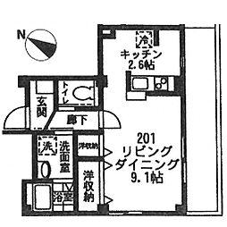 ルミエール横濱[201号室号室]の間取り
