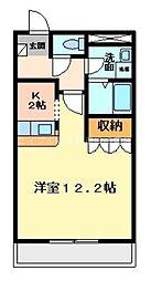 岡山県倉敷市新倉敷駅前3丁目の賃貸アパートの間取り